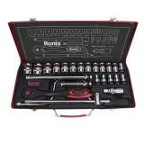 مجموعه 24 عددی آچار بکس مدل RH-2624 با سری های شش گوشه رونیکس